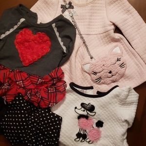 Lot of 3 cute girls outfits